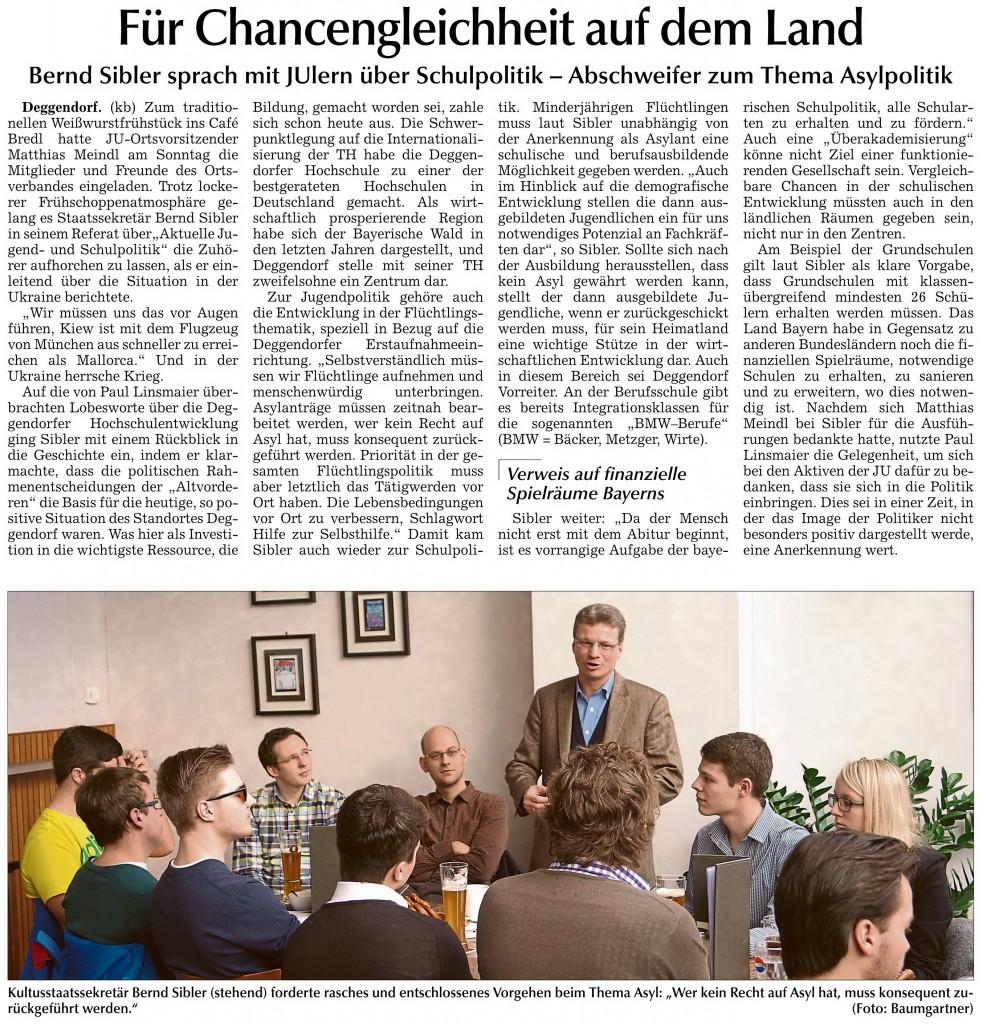 Donau Anzeiger 11.02.2015